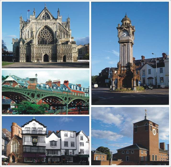 Exeter: City in the south west of England