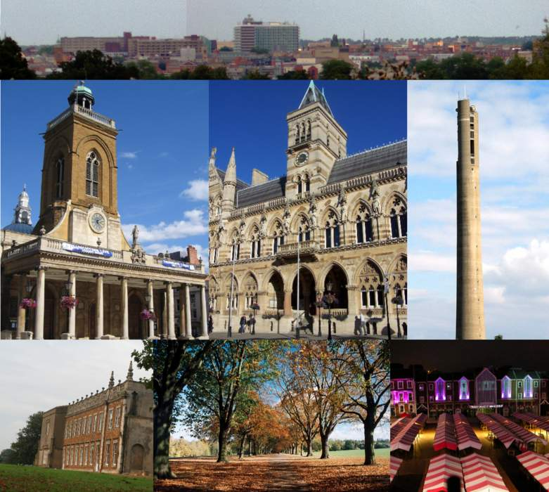 Northampton: County town of Northamptonshire, England