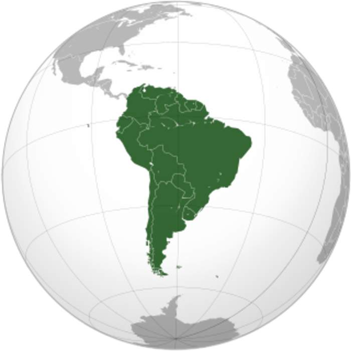 South America: Continent mostly in the Southern Hemisphere of Planet Earth